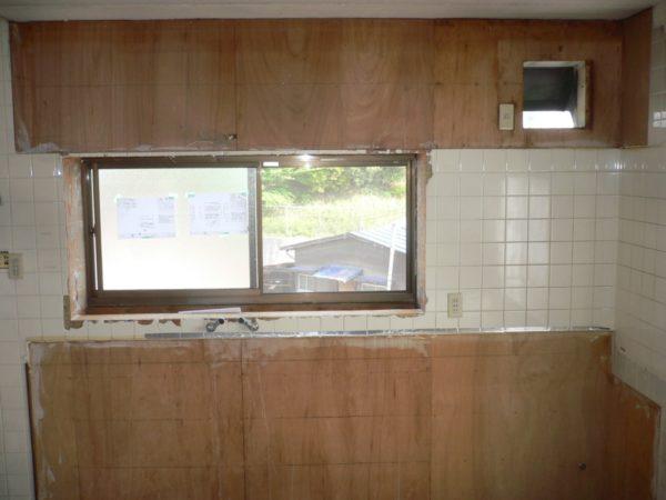 古いキッチン解体