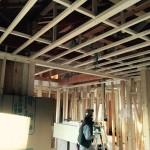 内部造作、壁と天井に断熱材とプラスターボードを施工 高砂市K様邸