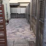 インターロッキングとフェンスを施工して完成 加古川市N様邸