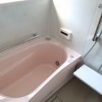 ピンクと花柄のかわいいお風呂完成 加古川市S様邸(お風呂リフォーム)