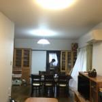 天井と壁のクロスを貼り替えて明るいリビング 高砂市K様邸(キッチン・内装リフォーム)