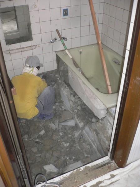 古いお風呂解体