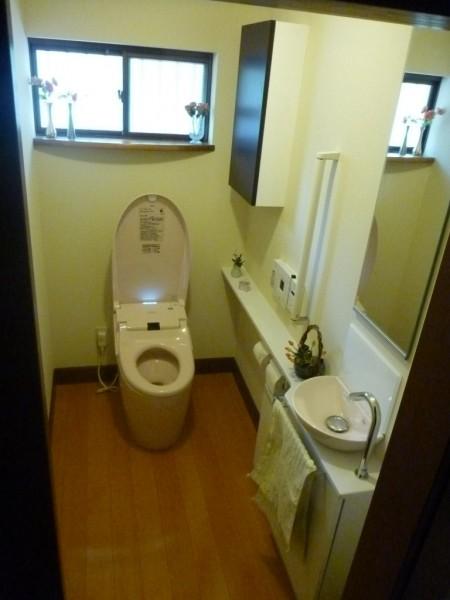 洋式トイレ完成