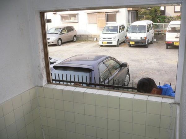 古い窓撤去