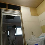 洗面所の下地造作、システムバス組み付け 高砂市H様邸(お風呂・洗面所リフォーム)