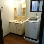 換気扇設置で湿気がたまらない洗面所 高砂市T様邸(浴室・洗面所リフォーム、エコキュート設置)