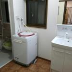 浴室パネル、壁紙の柄がアクセント 加古川市O様邸(水廻り・内装リフォーム)