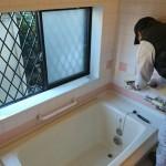 お風呂のバリアフリー化、システムバスTOTO「サザナ」取り付け 高砂市Y様邸(全面リフォーム)