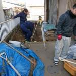 着工!庭の一部に増築するための基礎工事 高砂市I様邸(全面リフォーム)