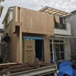 増築部のブロック基礎、木工事 加古川市H様邸(増築を含む全面リフォーム)