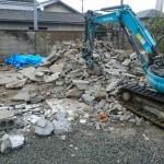 コンクリート造りの倉庫とカーポートの解体 高砂市K様邸(外構リフォーム)