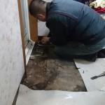 洗面所の床補修 高砂市H様邸(内装リフォーム)
