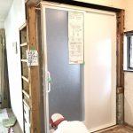 お風呂・洗面所、筋交いの代わりに構造用合板の耐力壁 加古川市M様邸(中古物件の全面リフォーム)