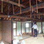 2階解体、1階サッシ入替え・床下地づくり 加西市S様邸(古民家リフォーム)