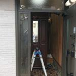 重い木製の玄関ドアをアルミ製に替えて軽量化 高砂市N様邸(玄関ドア・床リフォーム)