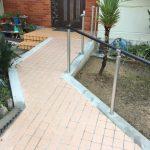 門扉から玄関にかけて車いす用スロープを設置 高砂市N様邸(外構リフォーム)