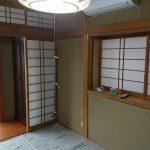和室のジュラク壁をクロス仕上げに変更 加古川市T様邸(内装リフォーム)