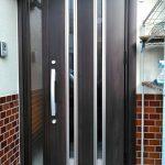 玄関ドアカバー工法・ドアホン取り替え 高砂市T様邸(玄関リフォーム)