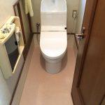 嵩上げで段差解消、使える部分はそのままにコストを抑えてできるだけ安くトイレリフォーム 加古川市F様邸(トイレリフォーム)
