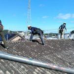 大波スレート屋根からガルバリウム鋼板に葺き替え 高砂市・米田新自治会様(公会堂の外壁塗装・屋根葺き替え)
