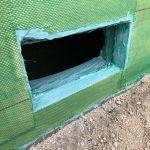 アラミド繊維シートとエポキシ樹脂を用いてひび割れた基礎を補強 高砂市Y様邸(基礎補強工事)