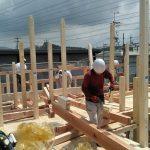 木造軸組工法2階建て~小屋組・上棟まで~ 高砂市M様邸(新築工事)