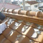 瓦屋根の漆喰やり替え 加古川市A様邸(屋根工事)