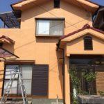 パーフェクトトップでぴかぴかきれいなオレンジのお家 高砂市A様邸(外壁塗装・屋根漆喰工事)