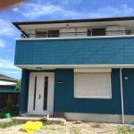 青と白で外国風のお家 加古川市I様邸(屋根・外壁塗装)
