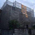 足場組立 高砂市K様邸(屋根葺き替え・外壁塗装)