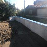 石積みの古い擁壁を鉄筋コンクリート造に作り直し 高砂市Y様邸(擁壁工事)