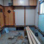 配管からの水漏れで腐っていた床をやり替え、パナソニックのキッチン「ラクシーナ」を取り付け 加古川市O様邸(キッチンリフォーム)