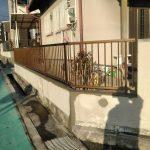 地震に備えて古いブロック塀をフェンスに変更 加古川市S様邸(外塀工事)