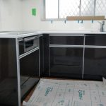 キッチン取り替え時、電気配線を壁に隠ぺいしてすっきり使いやすく 高砂市K様邸(キッチンリフォーム)