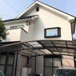 コーキングが剥がれ色あせていた外壁、モニエル瓦を塗装してきれいに 加古川市Y様邸(築19年一戸建て、屋根・外壁塗装)