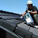 コケの生えたモニエル瓦、バイオ高圧洗浄後に専用塗料で塗装 姫路市S様邸(築20年一戸建て、平屋、屋根・外壁塗装)