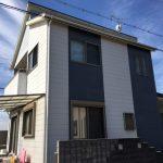サイディングの外壁を2色で塗り替え、雑草対策に防草シートと砂利敷き 高砂市M様邸(一戸建て、外壁塗装・外構リフォーム)