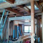 【下地工事・サッシ入れ替え】ベランダ部分に増築して階段を移設 加古川市H様邸(一戸建て、フルリノベーション)②