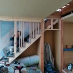 断熱材「セルロースファイバー」で騒音対策・格子付きのおしゃれな階段 加古川市H様邸(一戸建て、フルリノベーション)④