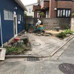 プレハブ小屋を取り壊してアスファルト舗装の駐車場にリフォーム 高砂市M様(店舗の外構工事)