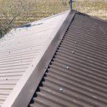 錆びた板金屋根に大波鉄板を重ね葺き(カバー工法) 高砂市M様邸