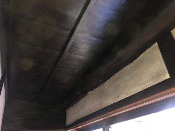 縁側天井塗装