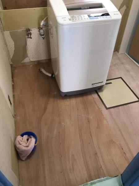 洗面所の下地工事