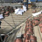 【雨漏りを繰り返す瓦屋根の葺き替え】のし瓦を高く積んだ棟を7寸丸被せにして軽量化 加古川市T様邸