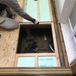 【水漏れ修理】洗面所の床やり替え・洗面化粧台交換 高砂市W様邸(築40年)