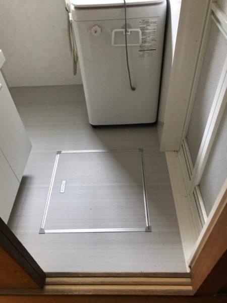 床下収納庫設置