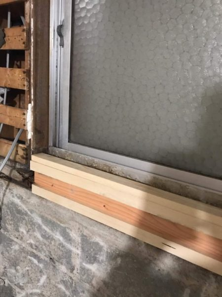 窓木部差し替え