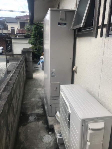 三菱エコキュート設置
