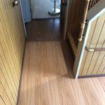 トイレ取り替え・床を増し張りして軋み解消 高砂市K様邸(築40年、軽量鉄骨造)
