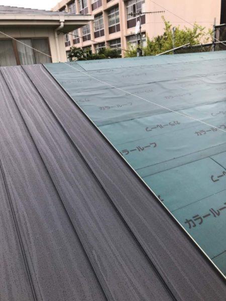 金属屋根重ね葺き